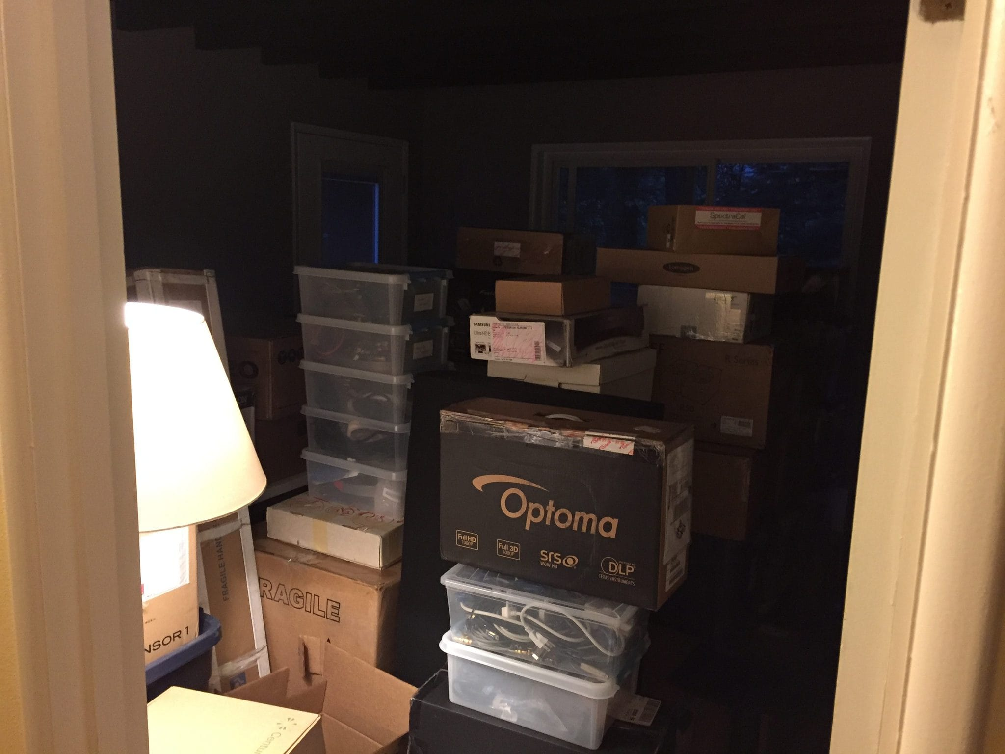 All the gear, boxed up, and no open space